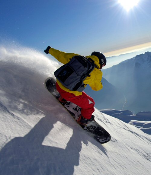 skieur, alpin, industrie, ski, snow